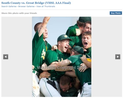 Battlefield vs. Great Bridge, VHSL AAA Baseball Virginia State Championship 2011