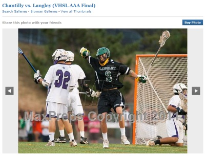 Chantilly vs. Langley, VHSL AAA Boys Lacrosse Virginia State Championship 2011